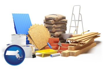 sample construction materials - with Massachusetts icon
