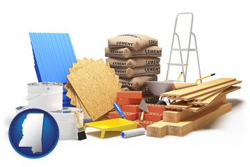 sample construction materials - with Mississippi icon