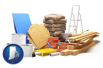 sample construction materials - with Rhode Island icon