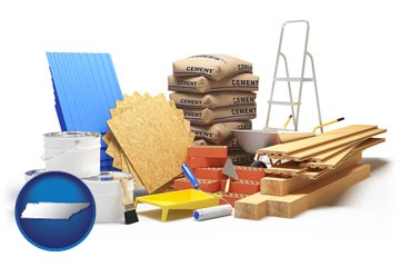 sample construction materials - with Tennessee icon