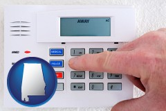 alabama setting a home burglar alarm