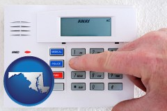 maryland setting a home burglar alarm