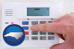 north-carolina setting a home burglar alarm
