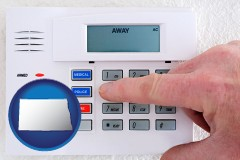 north-dakota setting a home burglar alarm