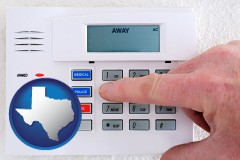 texas setting a home burglar alarm