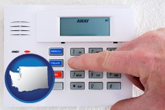 washington setting a home burglar alarm