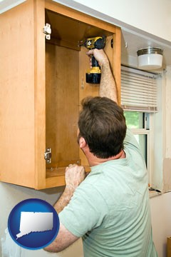 kitchen cabinet installation - with Connecticut icon