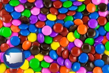 colorful candies - with Washington icon