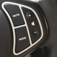 car audio controls on steering wheel