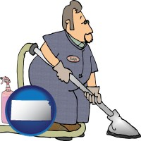 kansas a carpet cleaner using carpet cleaning equipment and supplies