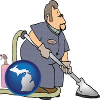 michigan a carpet cleaner using carpet cleaning equipment and supplies