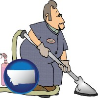 montana a carpet cleaner using carpet cleaning equipment and supplies