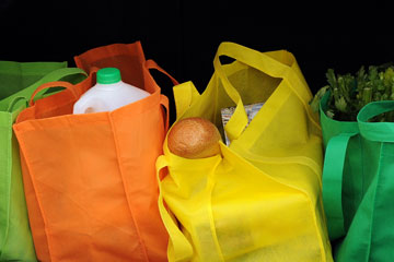 colorful cloth shopping bags
