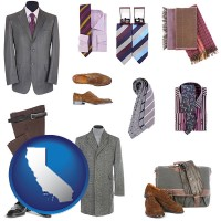 california men's clothing and accessories