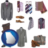 georgia men's clothing and accessories