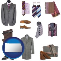 kansas map icon and men's clothing and accessories