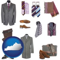 kentucky map icon and men's clothing and accessories