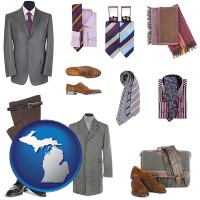 michigan map icon and men's clothing and accessories