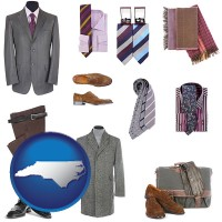 north-carolina men's clothing and accessories