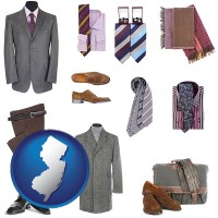 new-jersey map icon and men's clothing and accessories