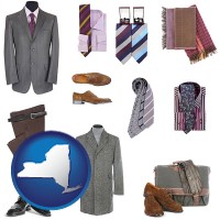 new-york map icon and men's clothing and accessories
