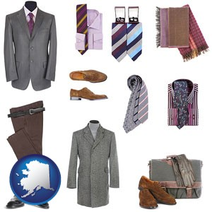men's clothing and accessories - with Alaska icon