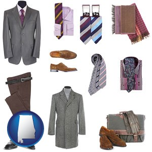 men's clothing and accessories - with Alabama icon