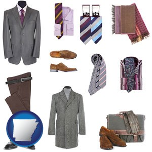 men's clothing and accessories - with Arkansas icon