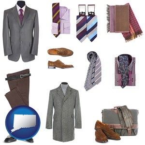 men's clothing and accessories - with Connecticut icon