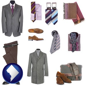 men's clothing and accessories - with Washington, DC icon