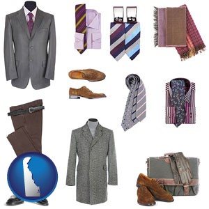 men's clothing and accessories - with Delaware icon