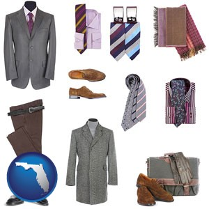 men's clothing and accessories - with Florida icon
