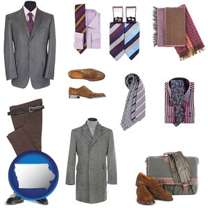 men's clothing and accessories - with Iowa icon