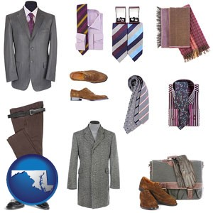 men's clothing and accessories - with Maryland icon