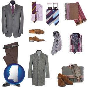 men's clothing and accessories - with Mississippi icon