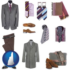 men's clothing and accessories - with New Hampshire icon