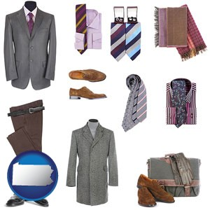 men's clothing and accessories - with Pennsylvania icon