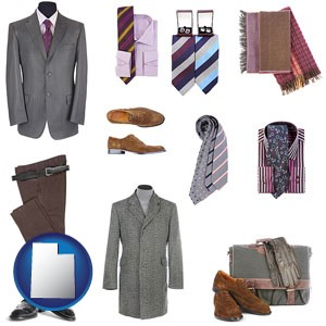 men's clothing and accessories - with Utah icon