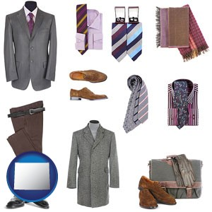 men's clothing and accessories - with Wyoming icon