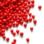 red thermoplastic pellets