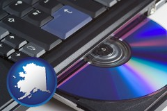 alaska loading software into a laptop computer from a cd