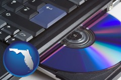 florida loading software into a laptop computer from a cd