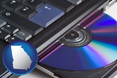georgia loading software into a laptop computer from a cd