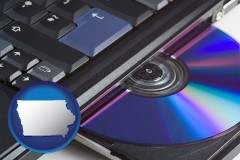 iowa loading software into a laptop computer from a cd