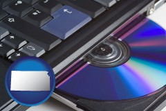 kansas loading software into a laptop computer from a cd