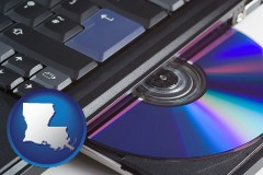 louisiana loading software into a laptop computer from a cd