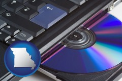 missouri loading software into a laptop computer from a cd