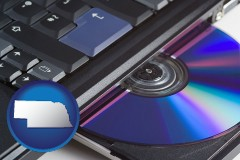 nebraska loading software into a laptop computer from a cd