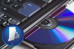 rhode-island loading software into a laptop computer from a cd