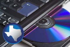 texas loading software into a laptop computer from a cd